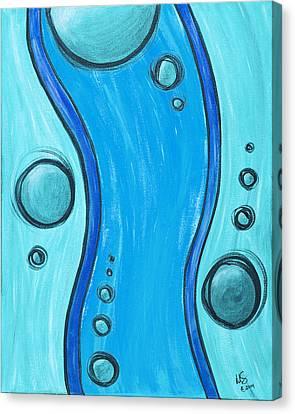 Seuss Blue Canvas Print by Melissa Smith