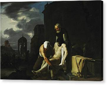 Seven Acts Of Mercy - Burying The Dead Canvas Print