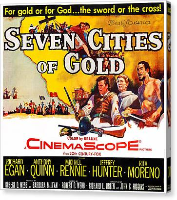Seven Cities Of Gold, Us Poster, Center Canvas Print by Everett