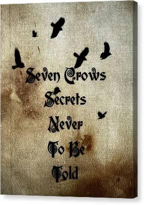 Seven Crows Canvas Print