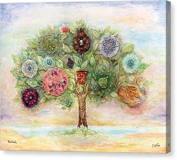 Biblical Canvas Print - Seven Fruits by Michoel Muchnik