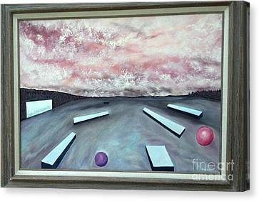 Canvas Print featuring the painting Seven Levels Of Consciousness by Stuart Engel