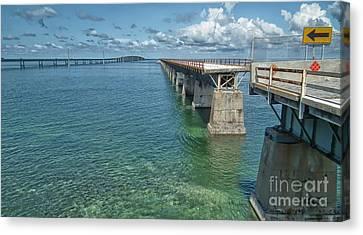 Us1 Canvas Print - Seven Mile Bridges by Tammy Chesney