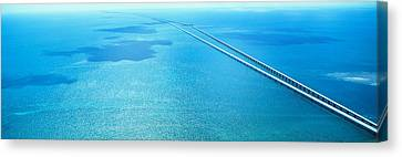 Seven Miles Bridge Florida Keys Fl Usa Canvas Print