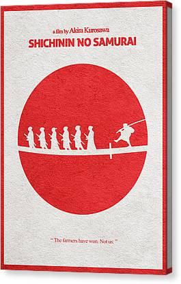Seven Samurai Canvas Print by Ayse Deniz