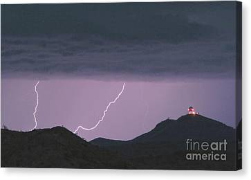 Seven Springs Lightning Strikes Canvas Print