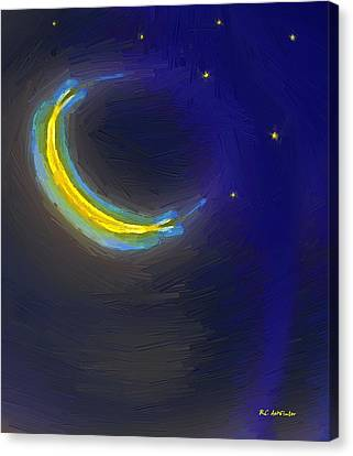 Seven Stars And The Moon Canvas Print by RC deWinter