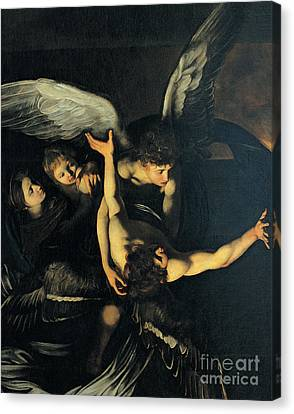 Seven Works Of Mercy Canvas Print by Caravaggio