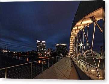 Seventh Avenue Bridge Fort Worth Canvas Print