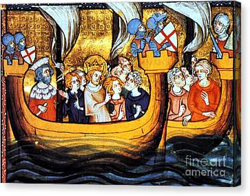 Seventh Crusade 13th Century Canvas Print by Photo Researchers