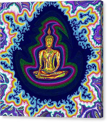 Seventh Heaven Buddha Canvas Print by Robert SORENSEN