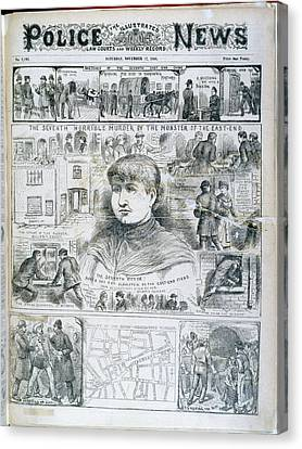 Seventh Ripper Murder Canvas Print by British Library