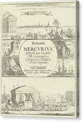 Several Events In Europe In The Year 1650 Canvas Print by Pieter Casteleyn