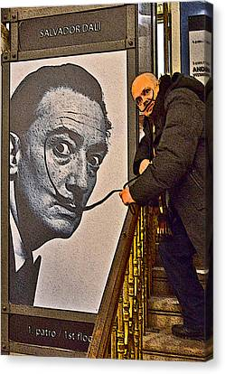 Charles Bridge Canvas Print - Severe Ordeals. Selfie With Salvador Dali  by Andy Za