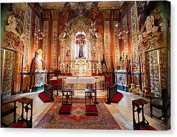 Jesus Christ Icon Canvas Print - Seville Cathedral Interior In Spain by Artur Bogacki