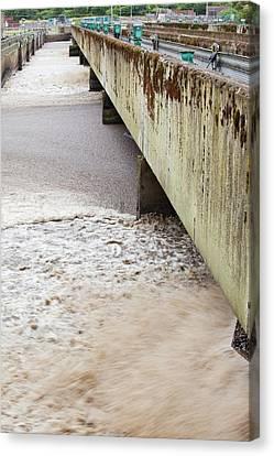 Sewage Plant Canvas Print by Ashley Cooper