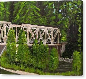 Sewalls Falls Bridge Canvas Print