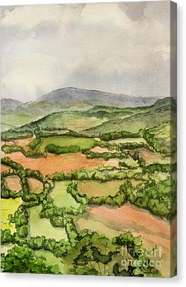 Sewanee Overlook Canvas Print by Janet Felts