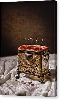 Sewing Box  Canvas Print by Amanda Elwell
