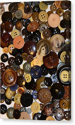 Sewing - Buttons And More Buttons Canvas Print by Paul Ward