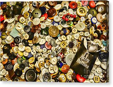 Sewing  Extra Buttons Canvas Print by Paul Ward