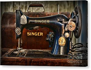 Sewing Machine By Singer Canvas Print by Paul Ward