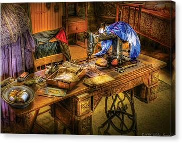 Sewing Machine  - Sewing Machine Iv Canvas Print by Mike Savad