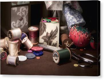 Fabric Canvas Print - Sewing Notions II by Tom Mc Nemar