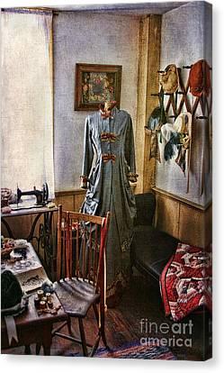 Dressing Room Canvas Print - Sewing Room 1 by Cindi Ressler