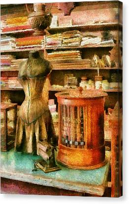 Sewing - Supplies For The Seamstress Canvas Print by Mike Savad