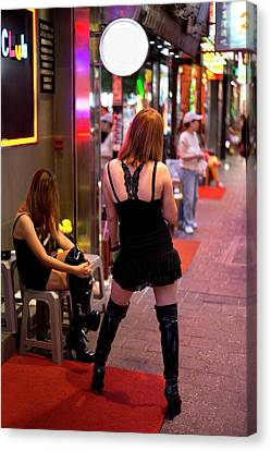 Sex Workers In Hong Kong Canvas Print