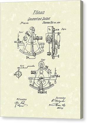 Sextant 1870 Patent Art Canvas Print by Prior Art Design