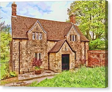 Canvas Print featuring the photograph Sextons Cottage Devizes by Paul Gulliver