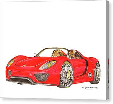 Sexy Spyder Porsche 918 Canvas Print by Jack Pumphrey