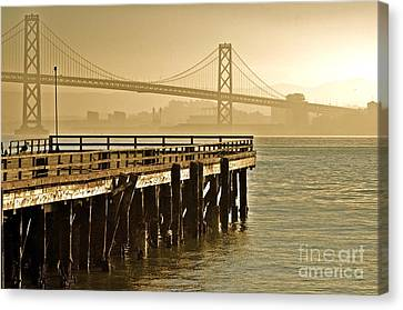 Sf Bay Bridge From Treasure Island Canvas Print