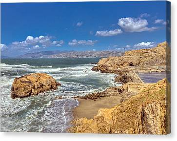 Sf Beach In Hdr Canvas Print by Matthew Bamberg