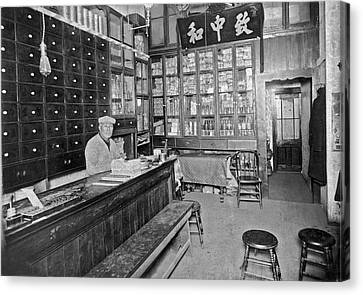 Sf Chinese Apothecary Canvas Print by Underwood Archives