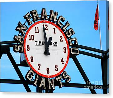 San Francisco Giants Baseball Time Sign Canvas Print by Tap On Photo