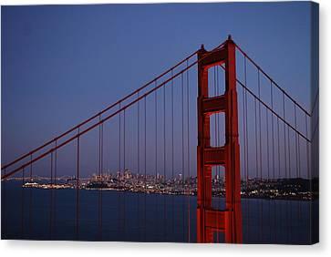 Sf Through The Bridge Canvas Print