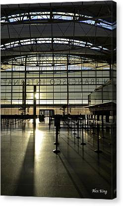 Sfo International Terminal From The Inside Canvas Print by Alex King