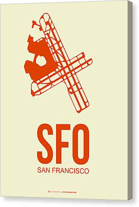 Sfo San Francisco Airport Poster 1 Canvas Print by Naxart Studio