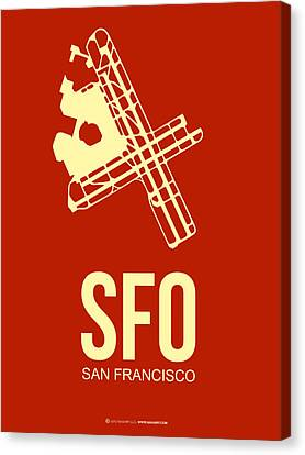 Sfo San Francisco Airport Poster 2 Canvas Print by Naxart Studio