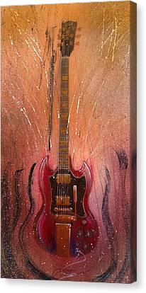 Canvas Print featuring the painting SG by Andrew King