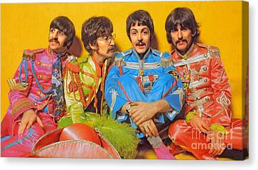 Sgt. Pepper's Lonely Hearts Club Band Canvas Print by Stephen Shub