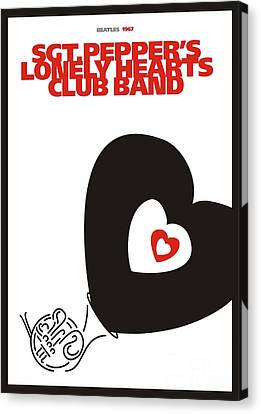 Sgt. Pepper's Lonely Hearts Club Band Canvas Print by Urilla Art