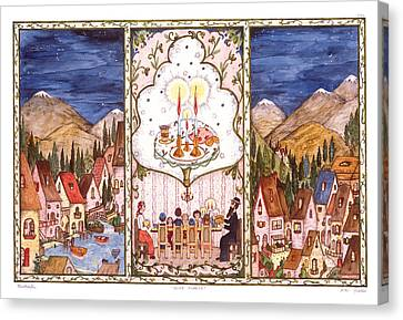 Shabbat In The Mountains Canvas Print