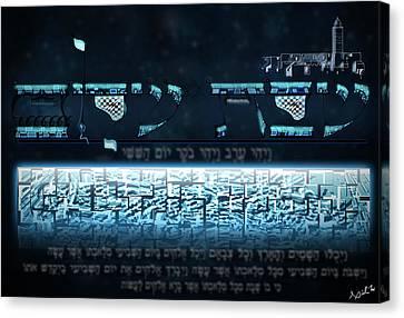 Shabbat Shalom Canvas Print by Aiden Kashi