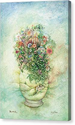 Shabbat Vase Canvas Print by Michoel Muchnik