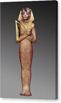 Shabti Figure Of The King. 1370 -1352 Canvas Print