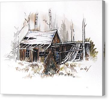 Wood Shed Canvas Print - Shack by Aaron Spong